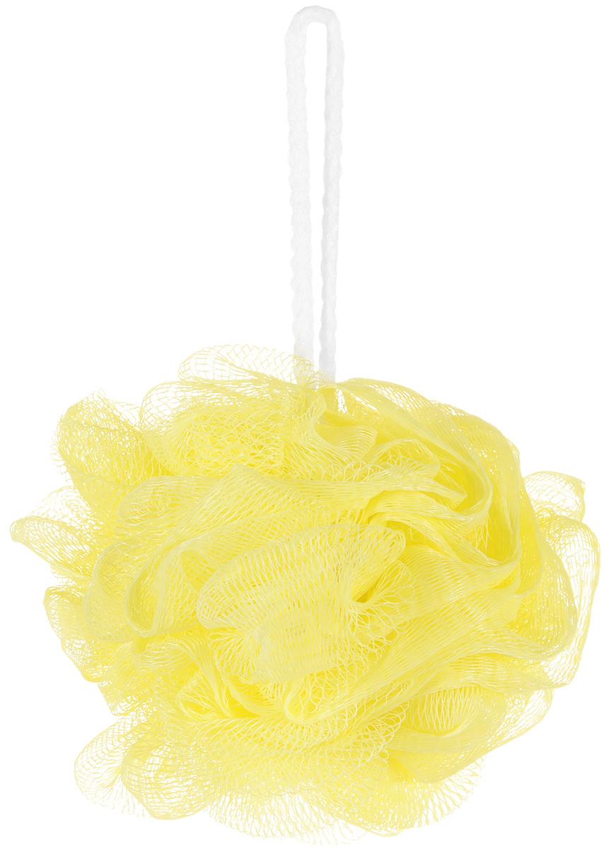 Riffi Мочалка-губка Массажный цветок, средняя, цвет: желтый. 343 губка для тела riffi цвет бежевый 747