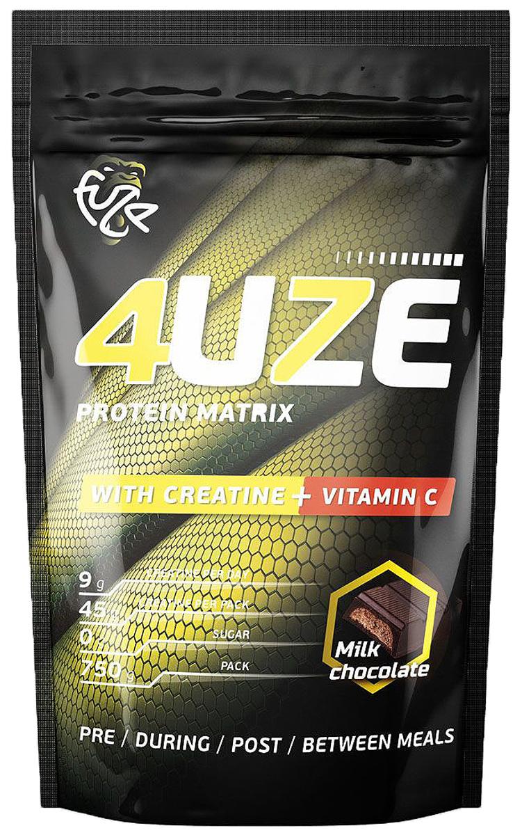 Протеин PureProtein Fuze + Creatine, молочный шоколад, 750 г36103274uze Creatine + Vitamin C подойдет всем, кто занимается в тренажерном зале, увлекается функциональным тренингом, а также баскетболом, регби или футболом. Добавка из креатина поможет Вам в увеличении силы, мышечной массы и анаэробной выносливости. Ингредиенты: концентрат сывороточного белка - 37,6%, концентрат молочного белка - 18,9%, сухой яичный белок - 18,9%, изолят соевого белка - 19,1 %, пшеничный белок - 5,5%, фруктоза, декстроза, соевый лецитин - 3,0%, алкализованный какао-порошок, мальтодекстрин, витамин С, креатина моногидрат, ароматизатор, аспасвит (не содержит финилалалин), ксантановая камедь, пищевой краситель Кармин (только для вкуса Вишневый пирог). Состав может меняться в зависимости от вкусов, но новые компоненты (из основных) не добавляются.Товар сертифицирован.Как повысить эффективность тренировок с помощью спортивного питания? Статья OZON Гид