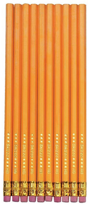 Herlitz Набор чернографитных карнадашей с ластиком 10 шт8670606Набор чернографитных карандашей с ластиком от Herlitz - это прекрасный атрибут для современного школьникаили студента. Каждый карандаш в наборе покрыт лаком на водной основе, а его корпус изготовлен изнатуральной древесины, что гарантирует легкое, аккуратное затачивание и экономичное, длительноеиспользование.Этот набор карандашей от Herlitz займет достойное место среди ваших канцелярскихпринадлежностей.