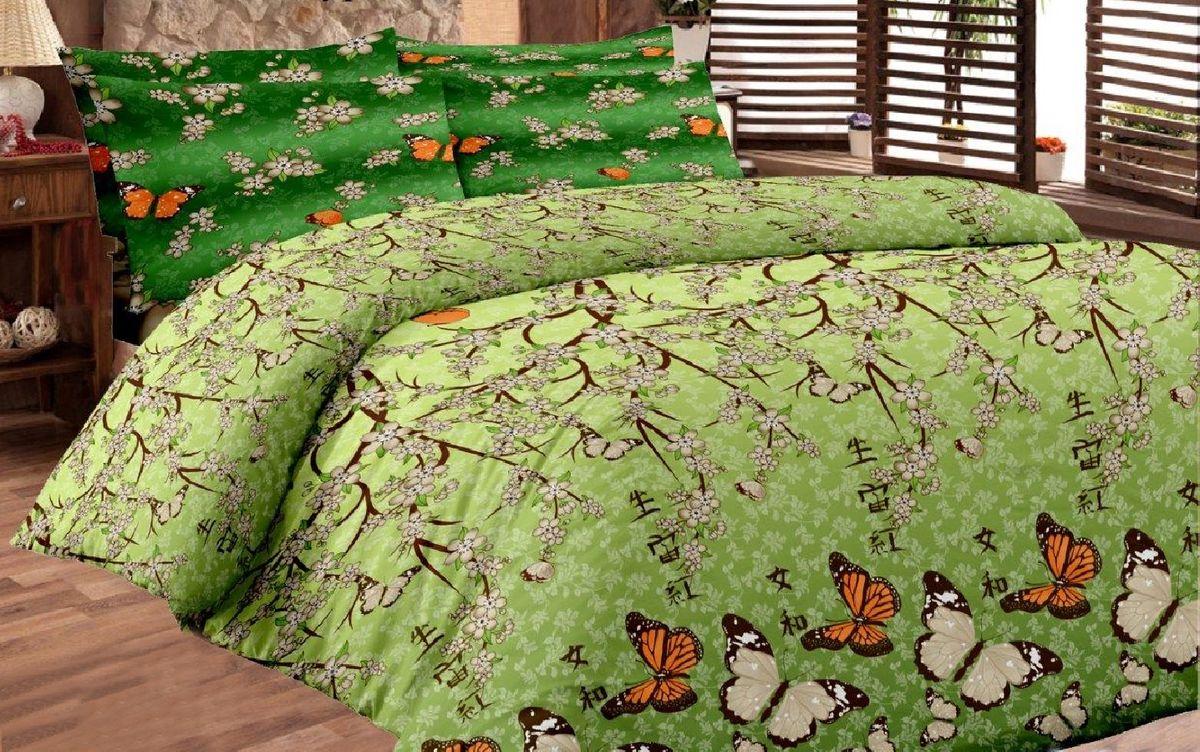 Комплект белья Liya Home Collection Ветка сакуры, семейный, наволочки 70x70, цвет: зеленый0000120001523Liya Tekstil производитель тканей и готовой продукции для дома.В нашем ассортименте комплекты постельного белья из- поплина ( 100% хлопок пл 115х125 гр/м2 ),- сатина ( 100% хлопок пл 130х140 гр/м2,) ,поликаттон (60%хлопка,40%пэ 115гр/м2), крашение реактив.Мы гарантируем ГОСТовский пошив наших комплектов, эксклюзивная упаковка которая пользуется спросом на рынке.