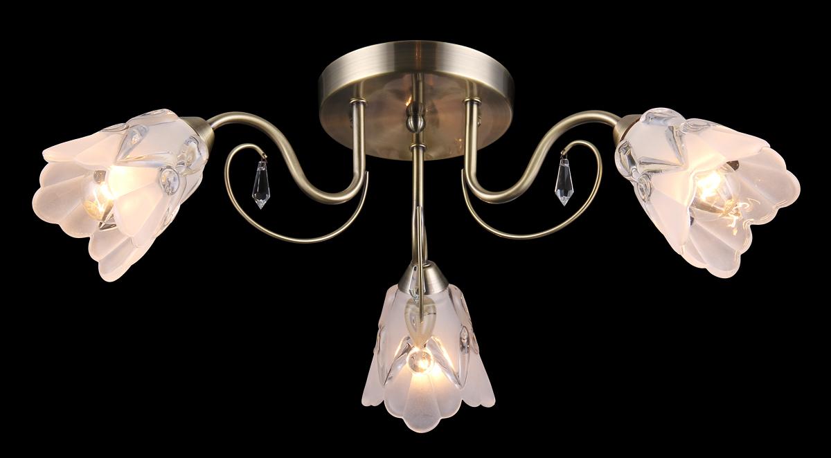 Люстра Natali Kovaltseva, 3 x E14, 60W. 11431/3С11431/3С ANTIQUEЛюстра Natali Kovaltseva, выполненная в классическом дизайне, станет украшением вашей комнаты и изысканно дополнит интерьер. Изделие крепится к потолку. Такая люстра отлично подойдет для освещения кабинета, столовой, спальни или гостиной. Люстра выполнена из металла с покрытием под бронзу и оснащена 3 плафонами из матового стекла, декорированными оригинальным рельефом. Изделие дополнено подвесками из кристаллов. В коллекциях Natali Kovaltseva представлены разные стили - от классики до хайтека. Дизайн и технологическая составляющая продукции разрабатывается в R&D центре компании, который находится в г. Дюссельдорф, Германия. При производстве продукции используются высококачественные и эксклюзивные материалы: хрусталь ASFOR, муранское стекло, перламутр, 24-каратное золото, бронза. Производство светильников соответствует стандарту системы менеджмента качества ISO 9001-2000. На всю продукцию ТМ Natali Kovaltseva распространяется гарантия.