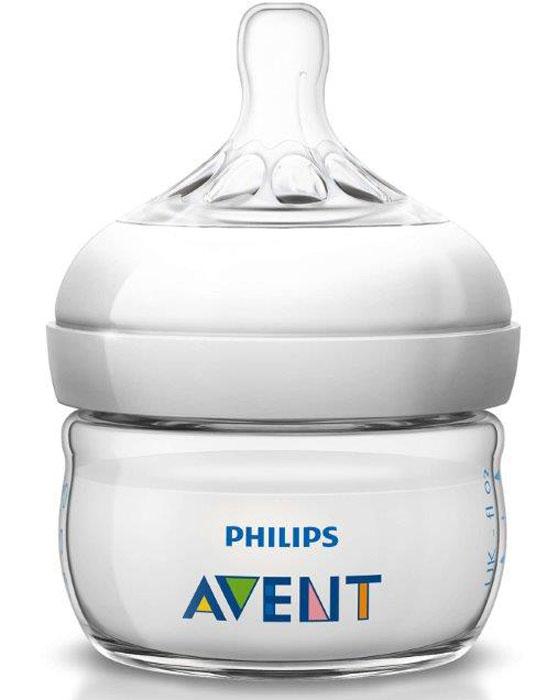 Philips Avent Бутылочка для кормления Natural 60 мл молокоотсосы электрические philips avent электронный молокоотсос philips avent серия natural scf332 01