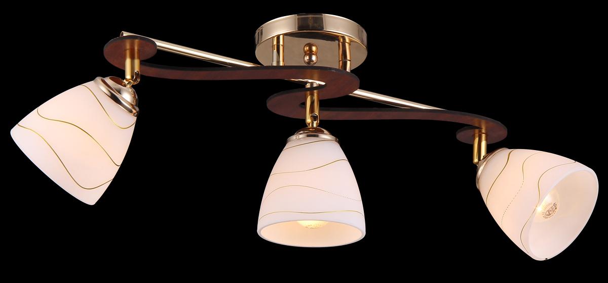 Люстра Natali Kovaltseva, 11467/3C French11467/3C FRENCHЛюстра Natali Kovaltseva, выполненная в классическом дизайне, станет украшением вашей комнаты и изысканно дополнит интерьер. Изделие крепится к потолку. Такая люстра отлично подойдет для освещения кабинета, столовой, спальни или гостиной. Люстра выполнена из металла и оснащена 3 плафонами из матового стекла, декорированными оригинальным рельефом.