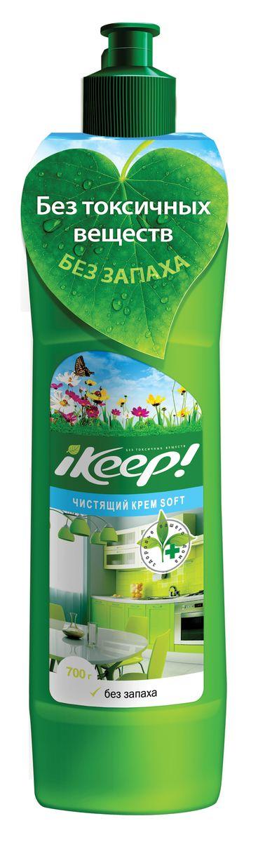 Крем чистящий Ikeep Soft, универсальный, 700 млБТ004Универсальный чистящий крем Ikeep Soft идеально подходит для регулярной уборки и придания блеска раковине, ванне, унитазу, душевой кабине, хромированным и эмалированным поверхностям, нержавеющей стали, кафелю, пластику, столешницам. Содержит мраморную тонкодисперсную пудру – эффективный нежный абразив, не травмирующий поверхность. Консистенция крема равномерно распределяется по поверхности. Не содержит хлор, гипохлорит натрия, фосфаты, нефтехимические продукты.Состав: неионогенные ПАВ, кислота олеиновая, полиоксихлорид алюминия, мраморная пудра (мягкий абразивный наполнитель), вода.Товар сертифицирован.