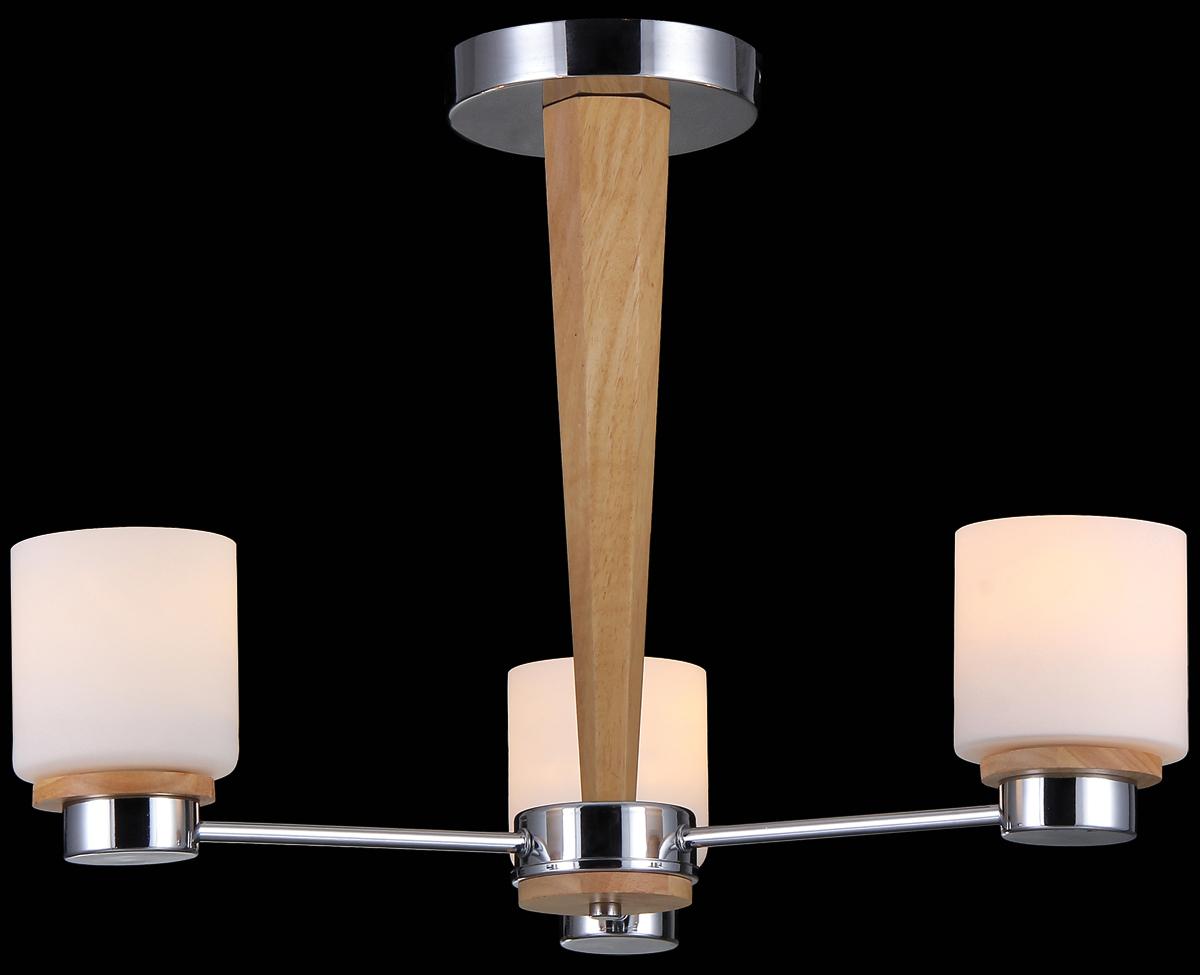 Люстра Natali Kovaltseva Lisboa, 3 x E14, 60W. 11399/3C50012120Люстра Natali Kovaltseva, выполненная в оригинальном дизайне, станет украшением вашей комнаты и изысканно дополнит интерьер. Изделие крепится к потолку. Такая люстра отлично подойдет для освещения кабинета, столовой, спальни или гостиной. Люстра изготовлена из металла с хромированным покрытием и дерева. Изделие оснащено 3 плафонами, выполненными из матового стекла.В коллекциях Natali Kovaltseva представлены разные стили - от классики до хайтека. Дизайн и технологическая составляющая продукции разрабатывается в R&D центре компании, который находится в г. Дюссельдорф, Германия. При производстве продукции используются высококачественные и эксклюзивные материалы: хрусталь ASFOR, муранское стекло, перламутр, 24-каратное золото, бронза. Производство светильников соответствует стандарту системы менеджмента качества ISO 9001-2000. На всю продукцию ТМ Natali Kovaltseva распространяется гарантия.