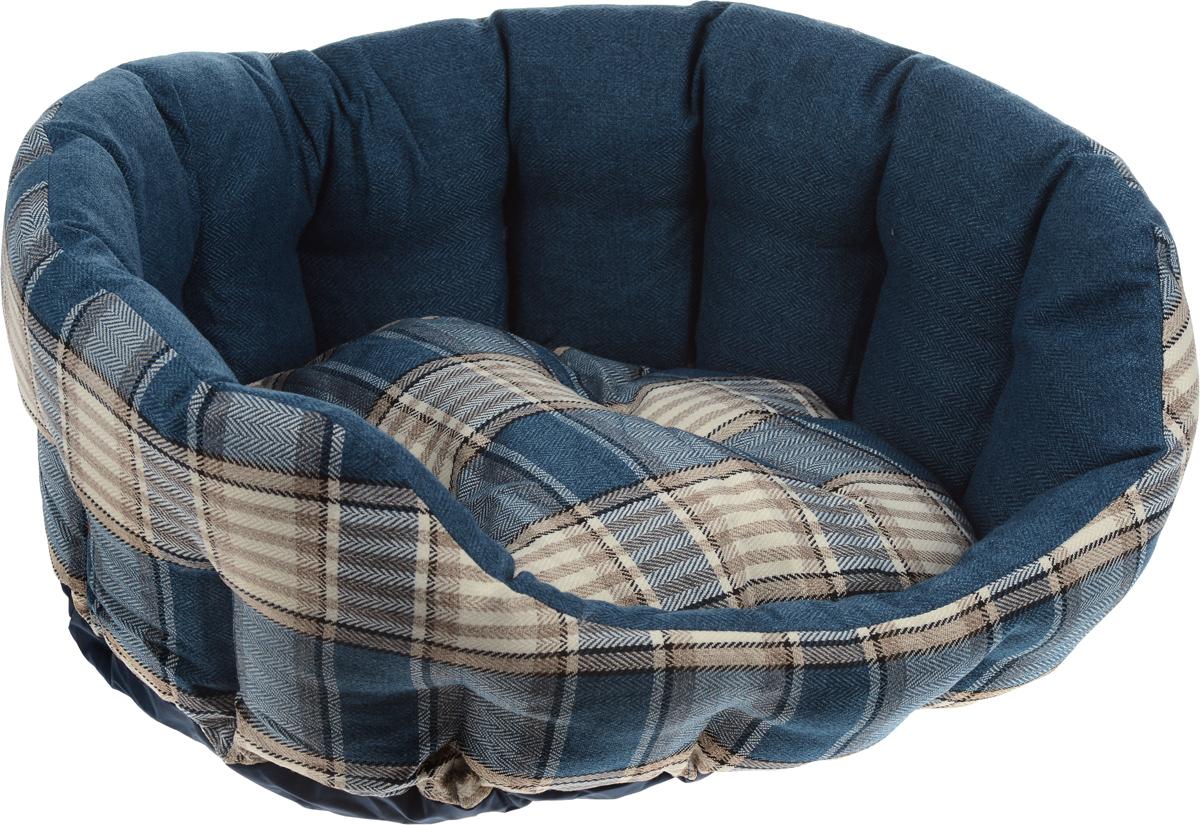 Лежак для животных Комфорт, 68 x 59 x 25 см8947-1422Лежак для животных Комфорт прекрасно подойдет для отдыха вашего домашнего питомца. Предназначен для собак средних пород. Изделие выполнено из прочной льняной ткани с принтом в клетку и снабжено высокими бортиками. Внутри лежака - наполнитель из полиэстерового волокна, который обеспечивает мягкость и упругость изделия. Лежак снабжен съемной подушкой. Основание изделия противоскользящее и водостойкое. Комфортный и уютный лежак обязательно понравится вашей собаке, животное сможет там отдохнуть и выспаться. Размер подушки: 53 х 45 х 12 см.