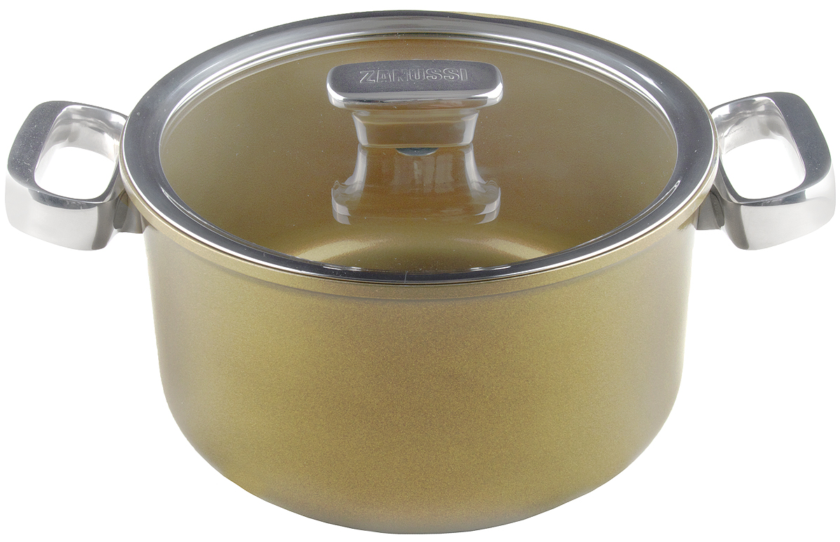 Кастрюля Zanussi Capri , цвет: шампань, 5,6 л, диаметр 24 см. ZCA41231DF