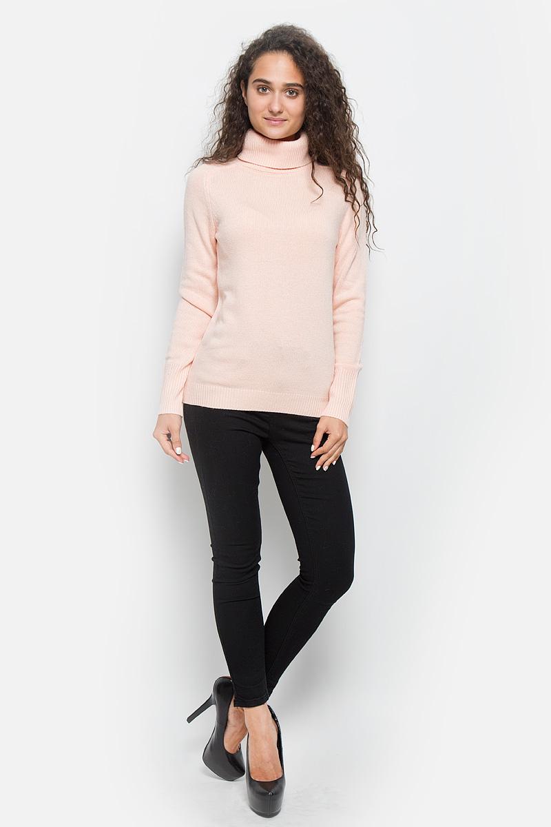 Свитер женский Baon, цвет: розовый. B136578. Размер M (46)B136578_Angel PeachОригинальный женский свитер Baon, изготовленный из высококачественной пряжи, мягкий и приятный на ощупь, не сковывает движений и обеспечивает наибольший комфорт.Модель с воротником-гольф и длинными рукавами-реглан великолепно подойдет для создания современного образа в стиле Casual. Низ изделия, манжеты и воротник связаны резинкой.Этот свитер послужит отличным дополнением к вашему гардеробу. В нем вы всегда будете чувствовать себя уютно и комфортно в прохладную погоду.