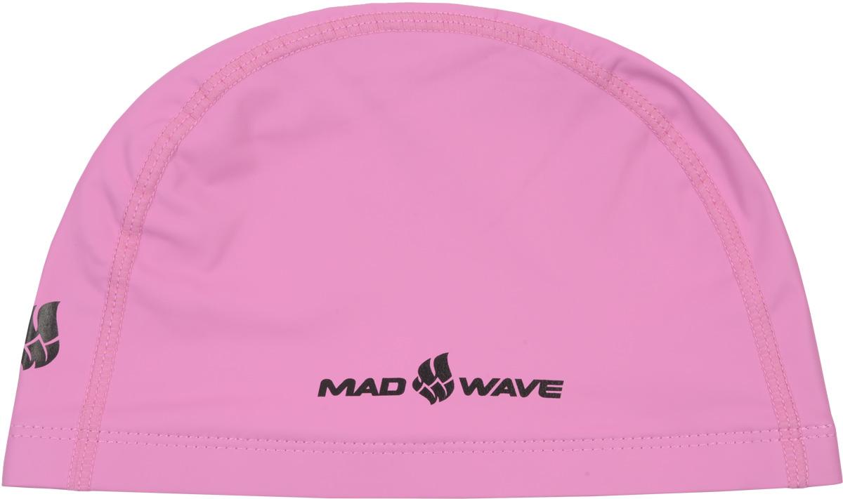 Шапочка для плавания Mad Wave PUT Coated, цвет: розовый10007083Текстильная шапочка Mad Wave PUT Coated с полиуретановым покрытием. Лучший выбор для ежедневных тренировок. Легкая и эргономичая. Легко снимается и надевается, хорошо садится по форме головы и очень комфортна, благодаря комбинации нескольких материалов.