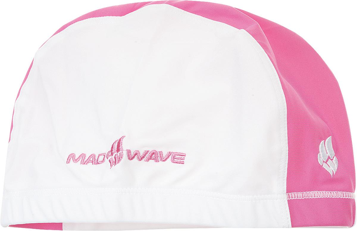 Шапочка для плавания Mad Wave Lycra Doutone, цвет: белый, розовый10013305Текстильная шапочка для плавания Mad Wave Lycra Doutone с добавлением лайкры. Предназначена для ежедневных тренировок. Не повреждает волосы. Широкая резинка обеспечивает меньшее давление на голову.