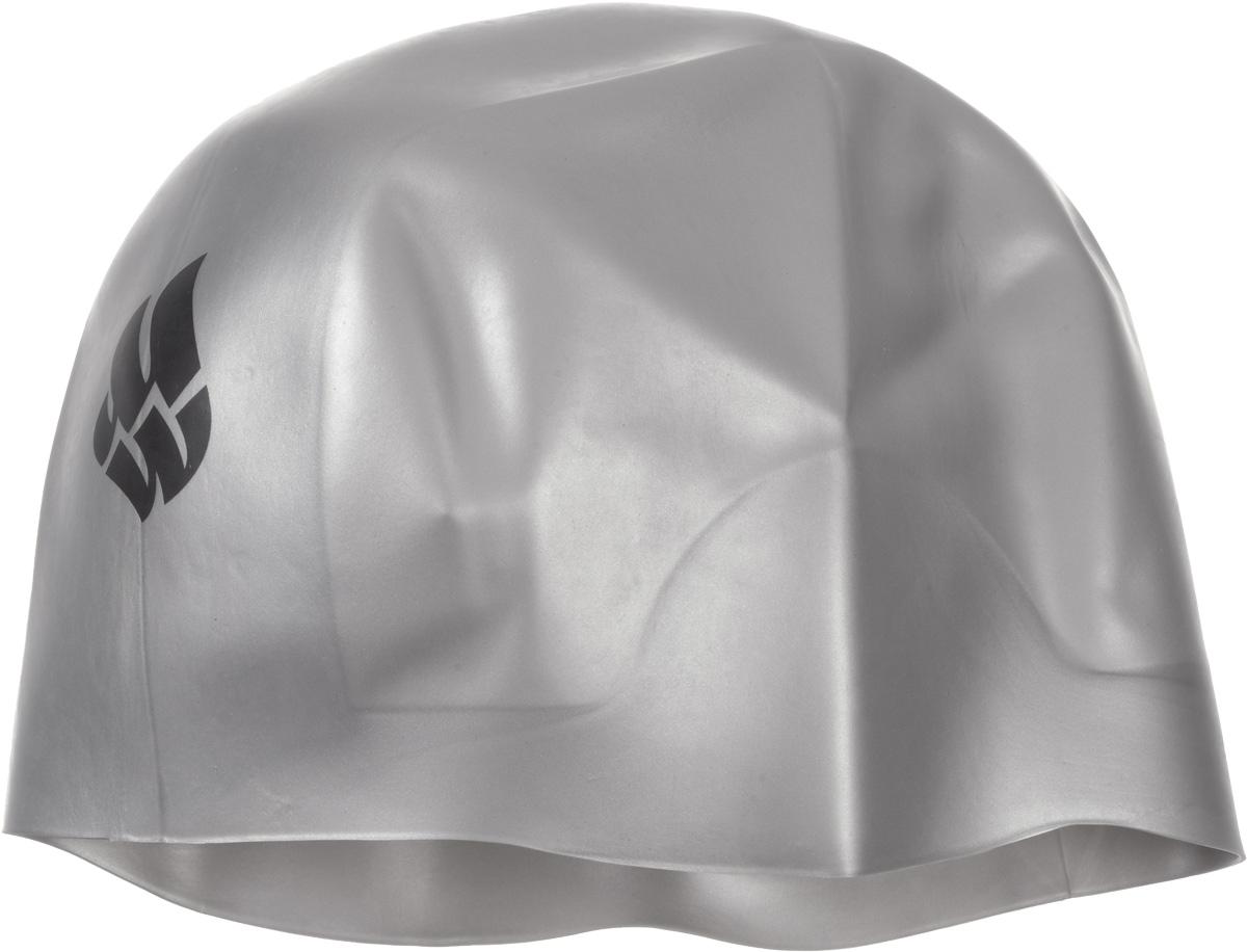 Шапочка для плавания Mad Wave R-Cap Fina Approved L, цвет: серебро шапочка для плавания madwave madwave ma991dkiwh88