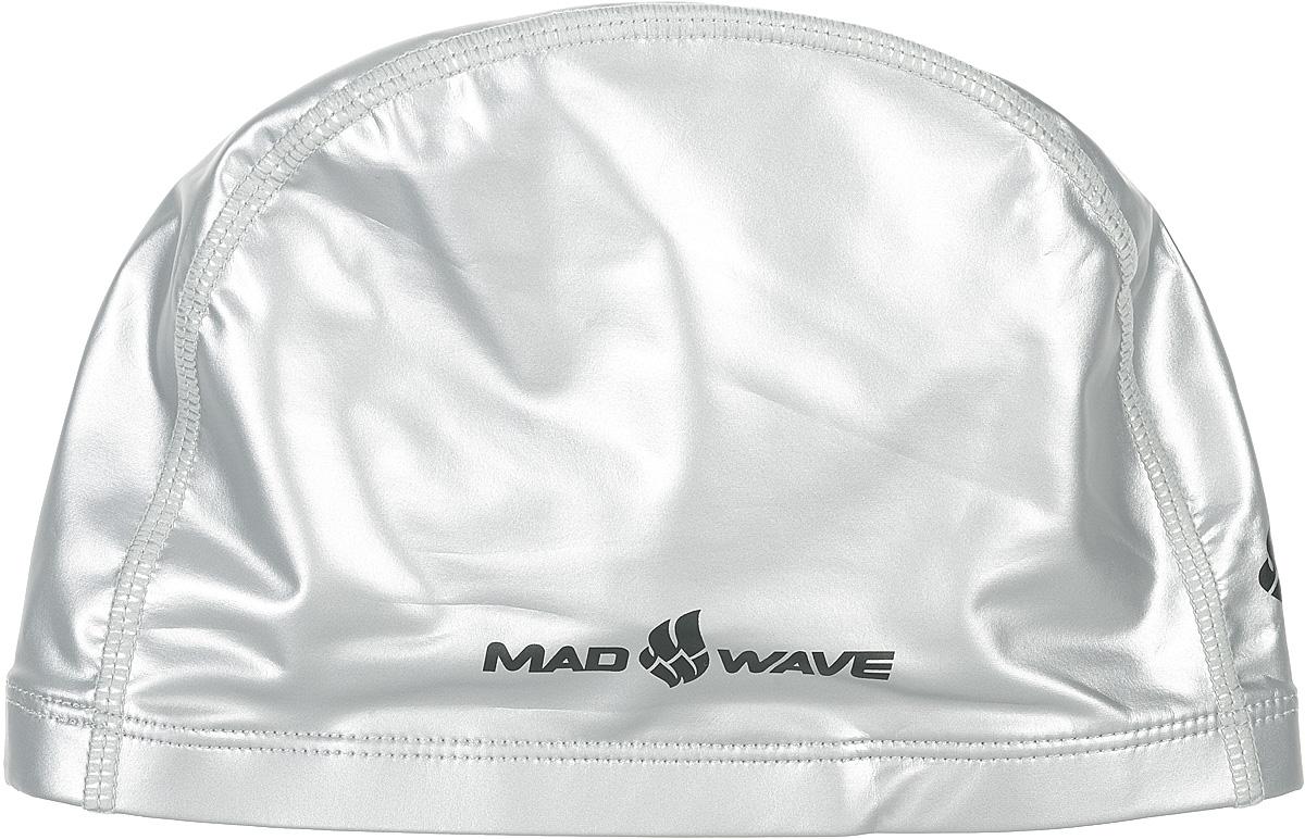 Шапочка для плавания Mad Wave PUT Coated, цвет: серебро10007080Текстильная шапочка Mad Wave PUT Coated с полиуретановым покрытием. Лучший выбор для ежедневных тренировок. Легкая и эргономичая. Легко снимается и надевается, хорошо садится по форме головы и очень комфортна, благодаря комбинации нескольких материалов.