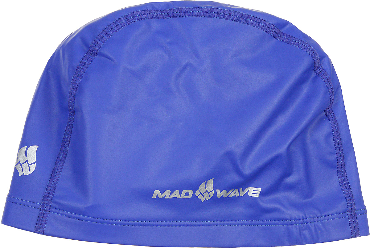 Шапочка для плавания Mad Wave PUT Coated, цвет: синий10007079Текстильная шапочка Mad Wave PUT Coated с полиуретановым покрытием. Лучший выбор для ежедневных тренировок. Легкая и эргономичая. Легко снимается и надевается, хорошо садится по форме головы и очень комфортна, благодаря комбинации нескольких материалов.