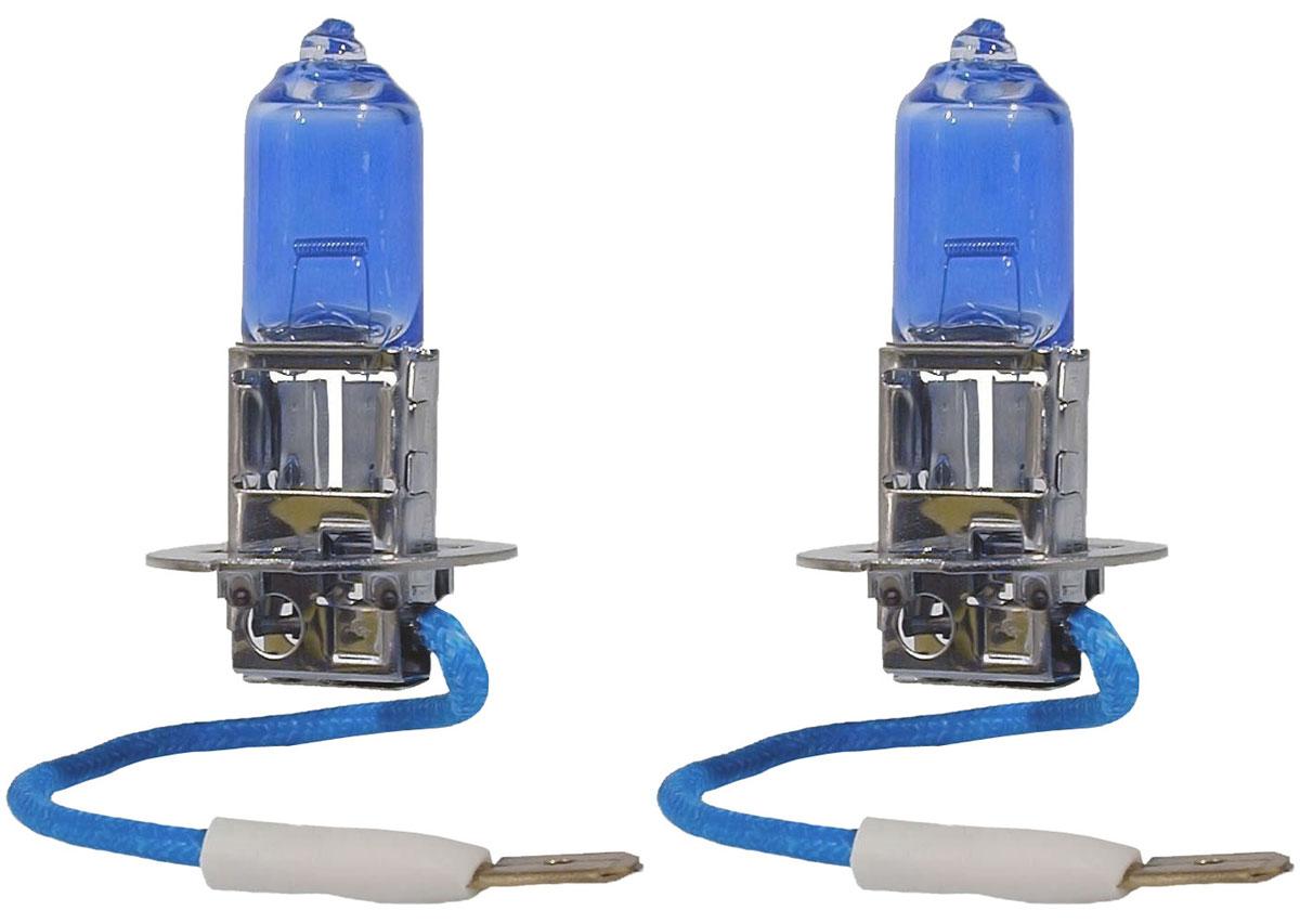 Лампа автомобильная галогенная Philips DiamondVision, для фар, цоколь H3 (PK22s), 12V, 55W, 2 шт12336DVS2Автомобильная галогенная лампа Philips DiamondVision произведена из запатентованного кварцевого стекла с УФ фильтром Philips Quartz Glass. Кварцевое стекло Philips в отличие от обычного твердого стекла выдерживает гораздо большее давление смеси газов внутри колбы, что препятствует быстрому испарению вольфрама с нити накаливания. Кварцевое стекло выдерживает большой перепад температур, при попадании влаги на работающую лампу изделие не взрывается и продолжает работать. Лампа DiamondVision с чистым белым светом, цветовой температурой 5000 K и стильным эффектом холодного белого ксенонового света идеально подходит для водителей, которые хотят придать индивидуальный стиль своему автомобилю. Автомобильные галогенные лампы Philips удовлетворят все нужды автомобилистов: дальний свет, ближний свет, передние противотуманные фары, передние и боковые указатели поворота, задние указатели поворота, стоп-сигналы, фонари заднего хода, задние противотуманные фонари, освещение номерного знака, задние габаритные/стояночные фонари, освещение салона.