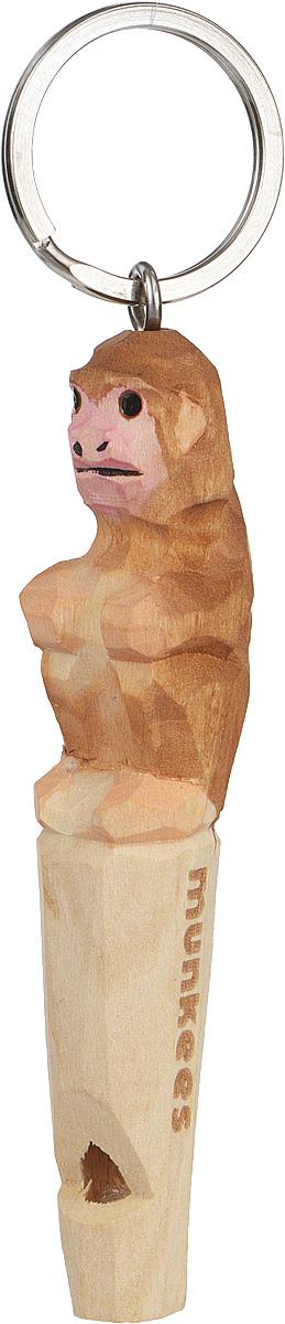 Брелок-свисток Munkees Обезьяна3359Брелок-свисток Munkees Обезьяна - это свисток с вырезанной вручную фигуркой, выполненной из дерева. Фигурка символизирует знак зодиака по восточному календарю. Сам свисток можно использовать на групповых тренировках, можно в качестве дрессировки собак, а можно и в экстренных случаях, обратить на себя внимание либо отпугнуть недоброжелателей или агрессивных животных.Такой свисток станет оригинальным и практичным подарком.