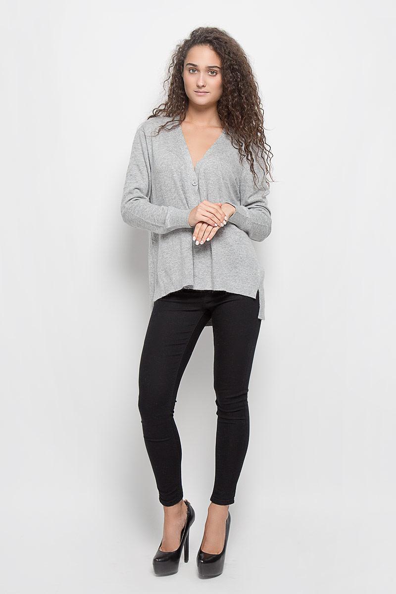 Кардиган женский Baon, цвет: серый меланж. B146702. Размер S (44) женский кардиган 013a56