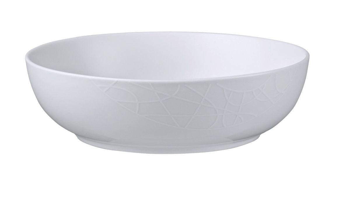 Салатник Churchill, диаметр 23 см. 6702095015С0739Салатник Churchill изготовлен из высококачественного фарфора.Коллекция Джейми Оливер - это простой орнамент с тонкими текстурными линиями, легкий и непринужденный стиль. Посуда этой коллекции износостойкая и ударопрочная.