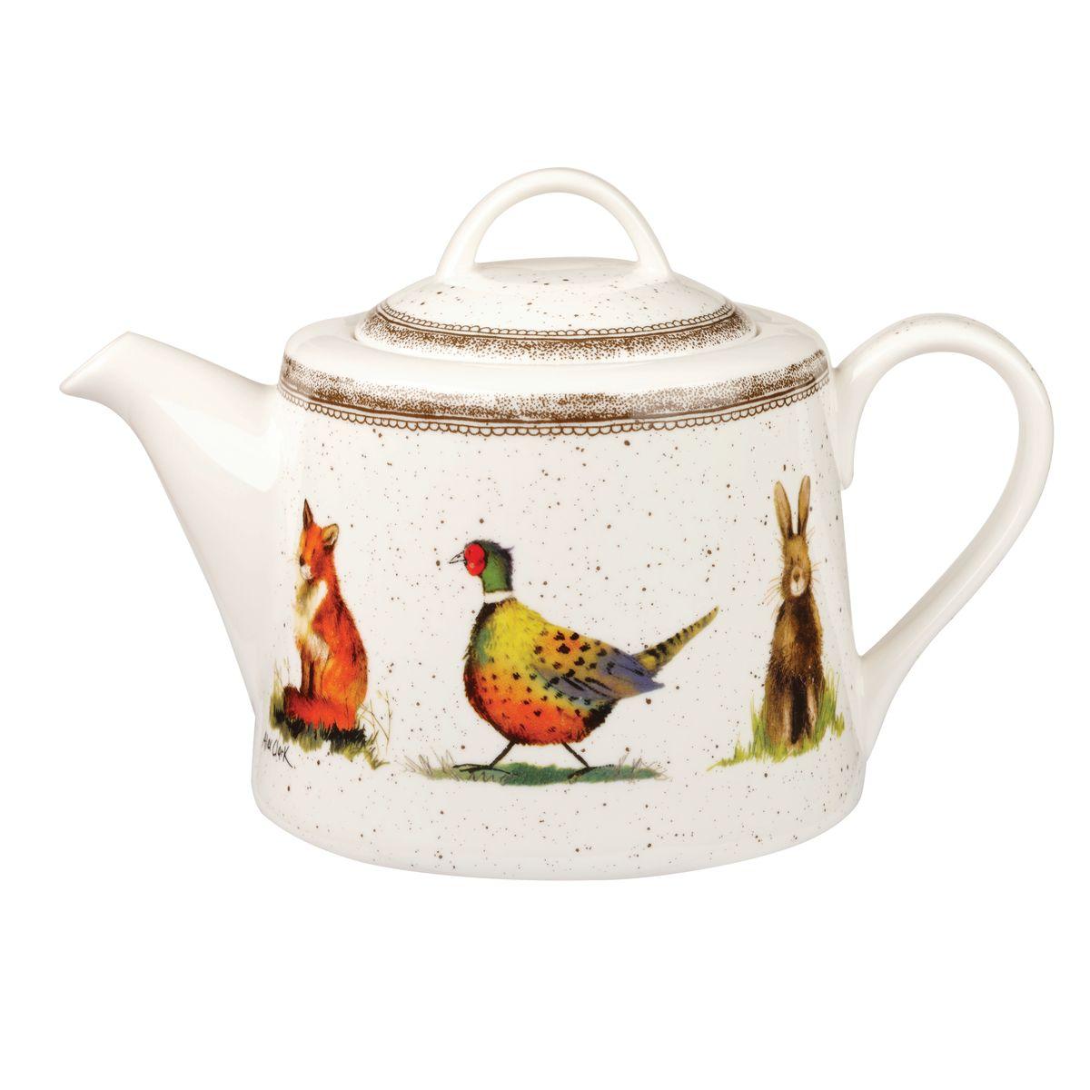 """Чайник заварочный Churchill """"Живая природа"""" выполнен из высококачественного фаянса и украшен оригинальным узором. Такой чайник отлично дополнит сервировку стола к чаепитию.  Коллекция Живая природа - уникальное сочетание живой природы и прекрасных воспоминаний из детства. Легкий и простой дизайн с пастельными красками идеально подойдет для любой кухни. Можно мыть в посудомоечной машине. Можно использовать в микроволновой печи."""