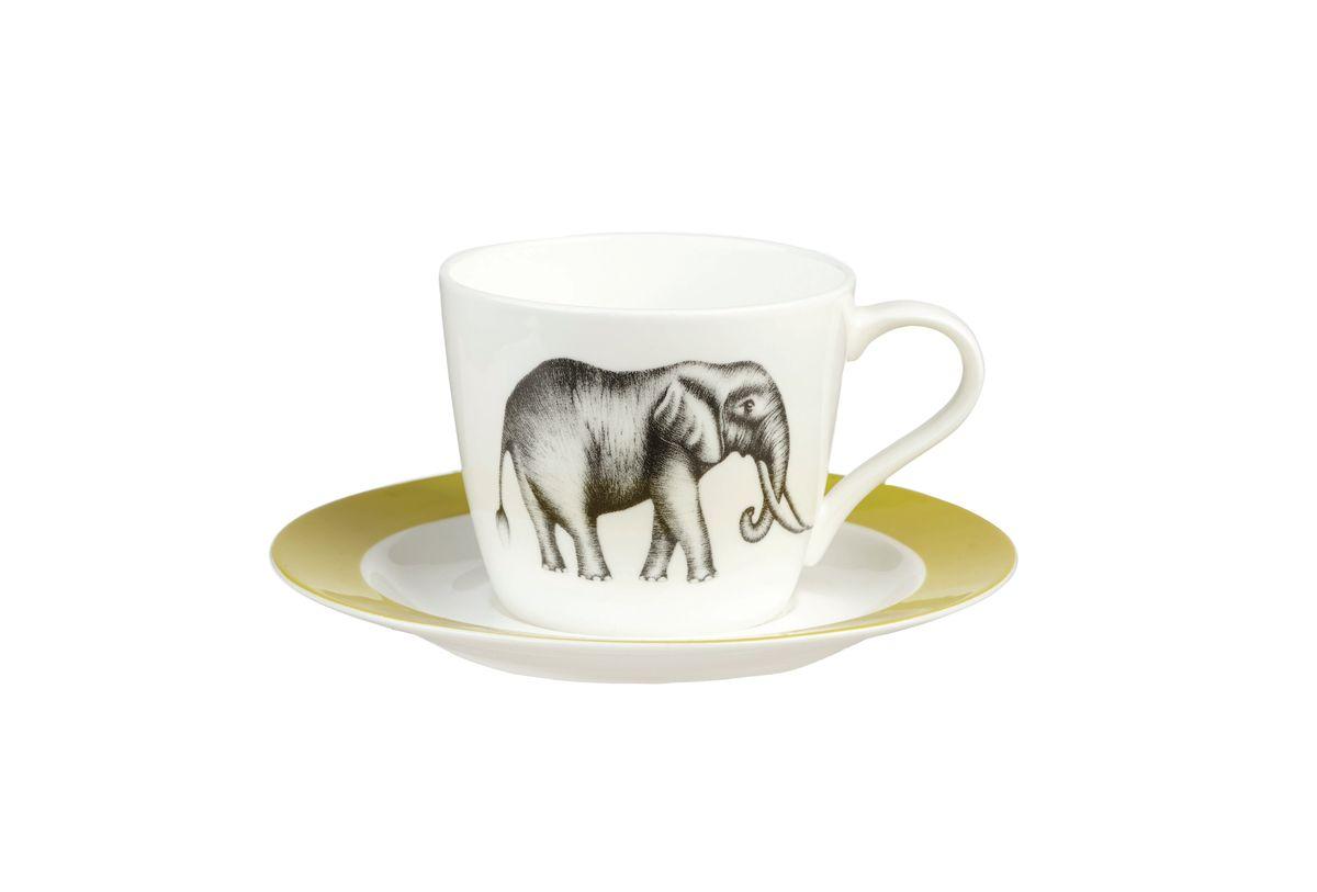 """Чайная пара Churchill """"Саванна"""" состоит из чашки и блюдца,  выполненных из высококачественного фарфора. Оригинальный дизайн, несомненно,  придется вам по вкусу.  Чайная пара Churchill """"Саванна"""" украсит ваш кухонный стол, а также станет  замечательным подарком к любому празднику.   Объем чашки: 200 мл."""