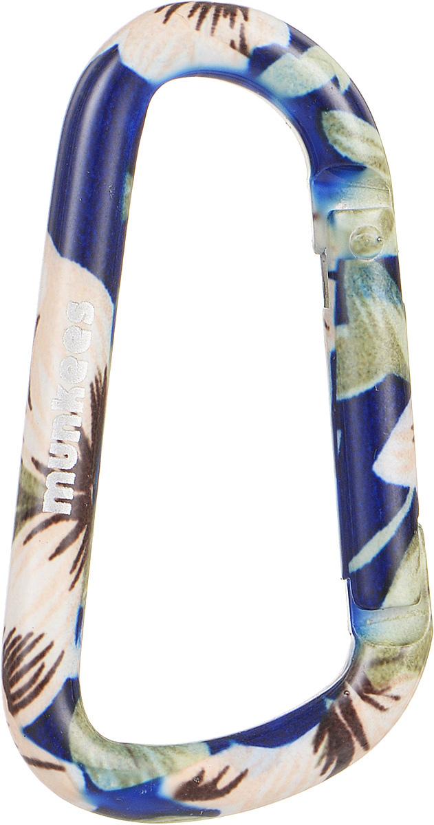 Карабин Munkees Голубой цветок, толщина 6 мм, длина 60 мм карабин munkees пестрый цветок толщина 8 мм длина 80 мм