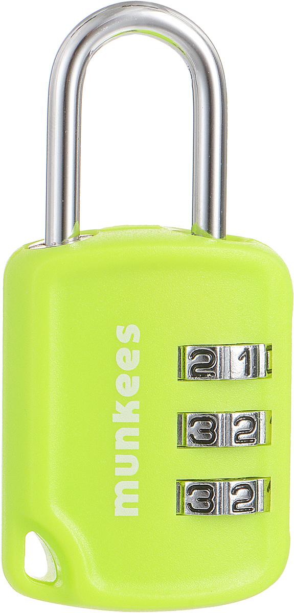 Кодовый замок-брелок Munkees3605Помимо функции брелока, замок Munkees всегда выполнит свою основную функцию и поможет надежно запереть рюкзак, сумку или другие личные вещи до вашего прихода. Изделие изготовлено из металла и пластика. Идеальное решение для путешествий и сохранности вашего багажа и багажа всей семьи. Инструкция по установке индивидуального пароля находится на упаковке.