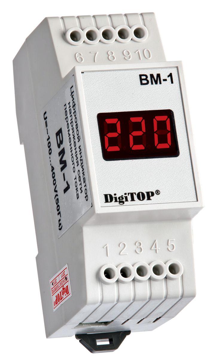 Вольтметр DigiTOP Вм-100000000038Вольтметр DigiTOP Вм-1 предназначен для измерения действующего значения напряженияпеременного тока частотой в однофазной сети. Пределы измерений: ~40 B … ~400 B. Дискретность индикации: 1 B. Погрешность измерения: 1%. Питание от сети переменного тока: ~40 В …~400 В, 50(±1)Гц.Корпус на DIN-рейку.