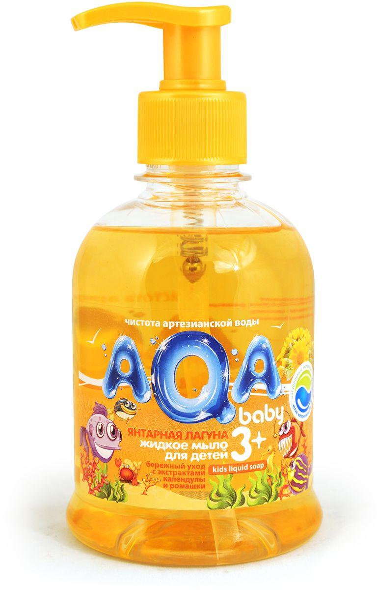 AQA baby Мыло жидкое Янтарная лагуна 300 мл02011203Жидкое мыло для детей Янтарная лагуна для ежедневной гигиены, сделано на основе воды из артезианского источника. Не сушит кожу, гипоаллергенно, с экстрактом календулы, с экстрактом ромашки.Без парабенов.Товар сертифицирован.
