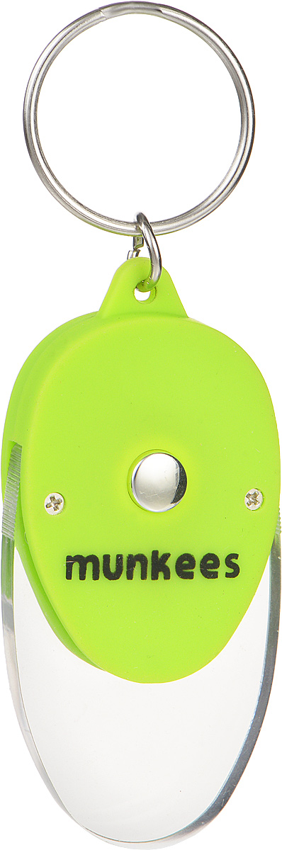 """Брелок Munkees """"Плоский фонарик"""" - это в первую очередь интересный брелок, а во вторую, функциональный фонарик. Его особенность в прозрачной части брелока, которая рассеивает свет и позволяет, к примеру, легко найти замочную скважину в полной темноте или что-либо на дне сумки. Изделие выполнено из прочного пластика и оснащено кольцом для подвешивания."""
