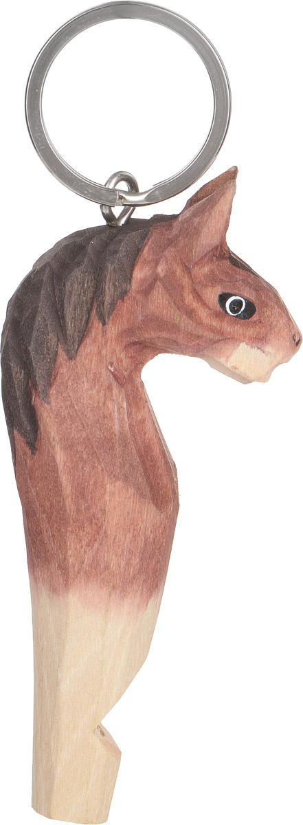 """Брелок-свисток Munkees """"Лошадь"""" - это свисток с вырезанной вручную фигуркой, выполненной из дерева. Фигурка символизирует знак зодиака по восточному календарю. Сам свисток можно использовать на групповых тренировках, можно в качестве дрессировки собак, а можно и в экстренных случаях, обратить на себя внимание либо отпугнуть недоброжелателей или агрессивных животных.  Такой свисток станет оригинальным и практичным подарком."""