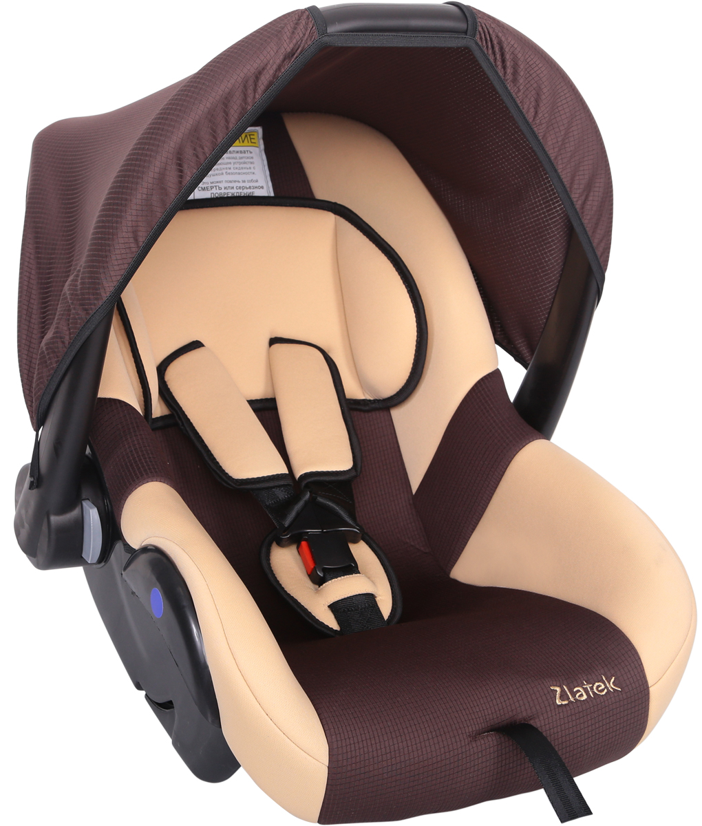 Zlatek Автокресло Colibri цвет коричневыйКРЕС0181Детское автомобильное кресло Zlatek «Colibri», для детей от рождения до полутора лет, весом до 13 кг. Относится к возрастной группе 0, 0+.Мягкий вкладыш-подголовник обеспечивает дополнительный комфорт во время поездки. Съемный капюшон защищает ребенка от солнца, а удобная ручка позволяет без лишних усилий переносить ребенка, как в обычной люльке. Ярко выраженная боковая защита позволяет повысить уровень безопасности при боковых ударах.Детские удерживающие устройства Zletek разработаны и сделаны в России с учетом анатомии детей. Двухпозиционная регулировка внутренних ремней позволяет адаптировать кресло Zlatek «Colibri» под зимнюю и летнюю одежду ребенка. Автокресло успешно прошло все необходимые краш-тесты и имеет сертификат соответствия техническому регламенту РФ и таможенному союзу.Автокресло Zlatek «Colibri» упаковано в защитную полиэтиленовую пленку.