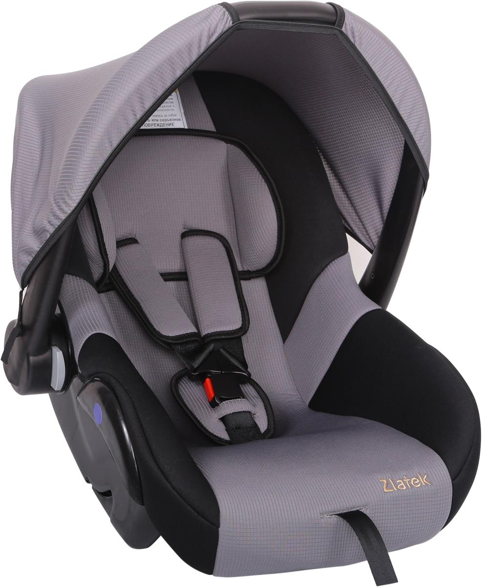 Zlatek Автокресло Colibri цвет серыйКРЕС0183Детское автомобильное кресло Zlatek «Colibri», для детей от рождения до полутора лет, весом до 13 кг. Относится к возрастной группе 0, 0+.Мягкий вкладыш-подголовник обеспечивает дополнительный комфорт во время поездки. Съемный капюшон защищает ребенка от солнца, а удобная ручка позволяет без лишних усилий переносить ребенка, как в обычной люльке. Ярко выраженная боковая защита позволяет повысить уровень безопасности при боковых ударах.Детские удерживающие устройства Zletek разработаны и сделаны в России с учетом анатомии детей. Двухпозиционная регулировка внутренних ремней позволяет адаптировать кресло Zlatek «Colibri» под зимнюю и летнюю одежду ребенка. Автокресло успешно прошло все необходимые краш-тесты и имеет сертификат соответствия техническому регламенту РФ и таможенному союзу.Автокресло Zlatek «Colibri» упаковано в защитную полиэтиленовую пленку.