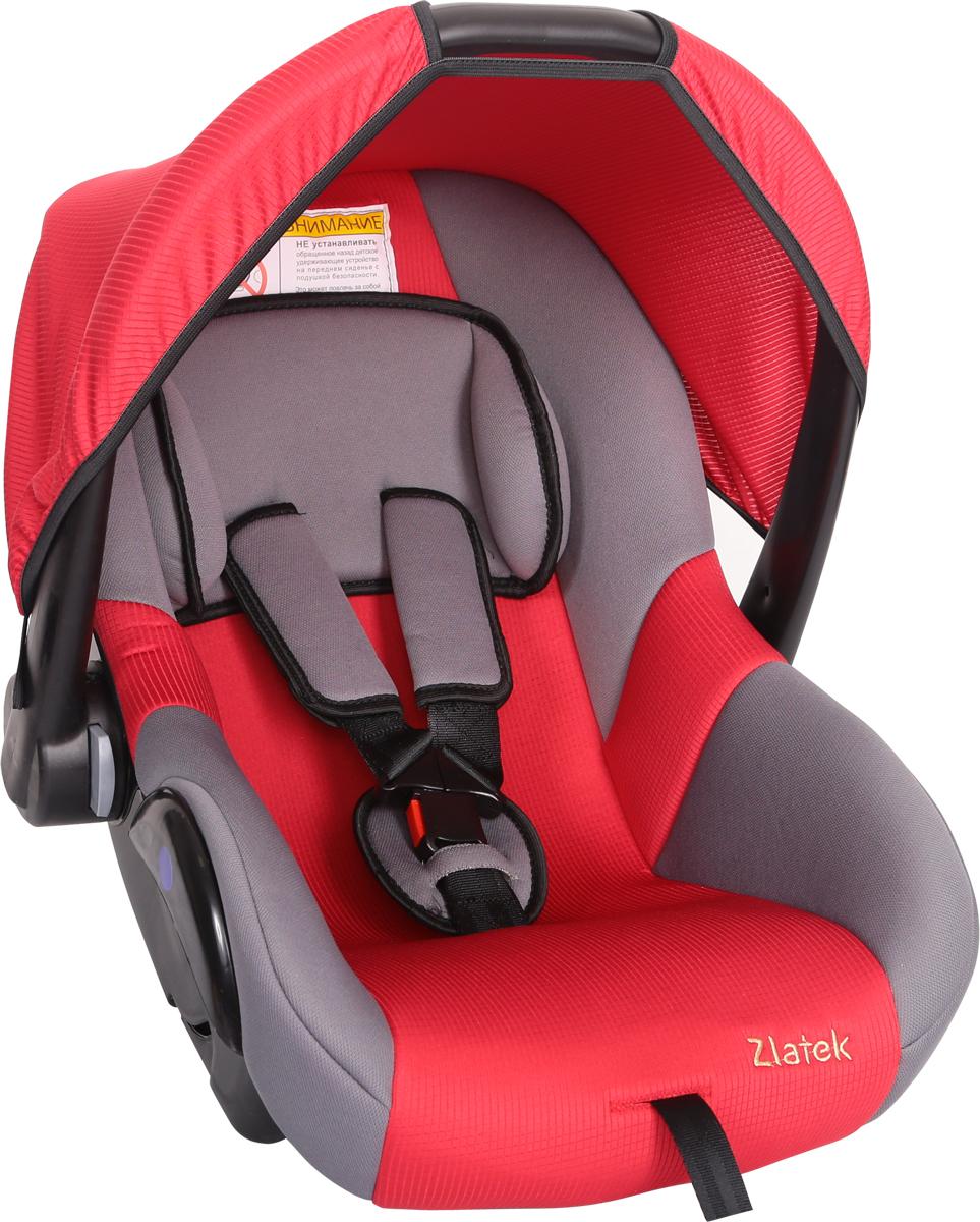 Zlatek Автокресло Colibri цвет красныйКРЕС0182Детское автомобильное кресло Zlatek «Colibri», для детей от рождения до полутора лет, весом до 13 кг. Относится к возрастной группе 0, 0+.Мягкий вкладыш-подголовник обеспечивает дополнительный комфорт во время поездки. Съемный капюшон защищает ребенка от солнца, а удобная ручка позволяет без лишних усилий переносить ребенка, как в обычной люльке. Ярко выраженная боковая защита позволяет повысить уровень безопасности при боковых ударах.Детские удерживающие устройства Zletek разработаны и сделаны в России с учетом анатомии детей. Двухпозиционная регулировка внутренних ремней позволяет адаптировать кресло Zlatek «Colibri» под зимнюю и летнюю одежду ребенка. Автокресло успешно прошло все необходимые краш-тесты и имеет сертификат соответствия техническому регламенту РФ и таможенному союзу.Автокресло Zlatek «Colibri» упаковано в защитную полиэтиленовую пленку.