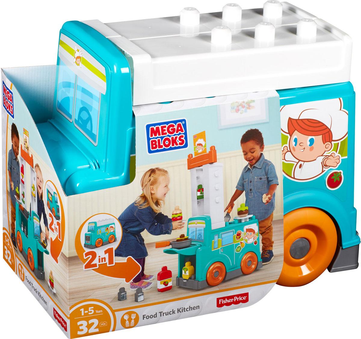 Mega Bloks First Builders Конструктор Передвижная кухня - Игрушки для малышей