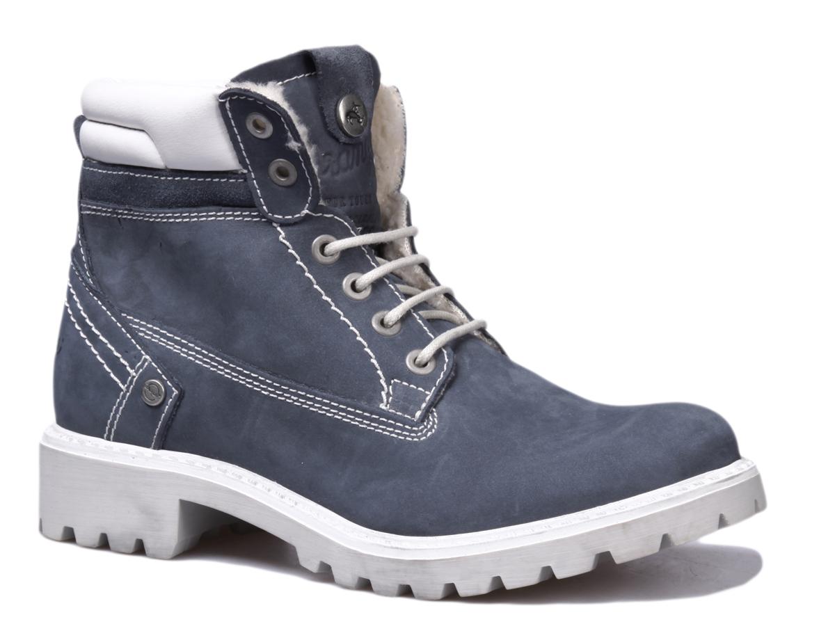 Ботинки женские Wrangler Creek Fur, цвет: синий. WL162500/F-118. Размер 39WL162500/F-118Стильные женские ботинки Wrangler надежно защитят вас от холода. Верх выполнен из нубука. Подкладка и стелька изготовлены из искусственного меха, позволяющего сохранять ваши ноги в тепле. Шнуровка надежно фиксирует модель на ноге. Оформлено изделие контрастной прострочкой. Резиновая подошва с рифлением обеспечивает хорошее сцепление с поверхностью. Такие ботинки отлично подойдут для каждодневного использования и подчеркнут ваш стиль и индивидуальность.