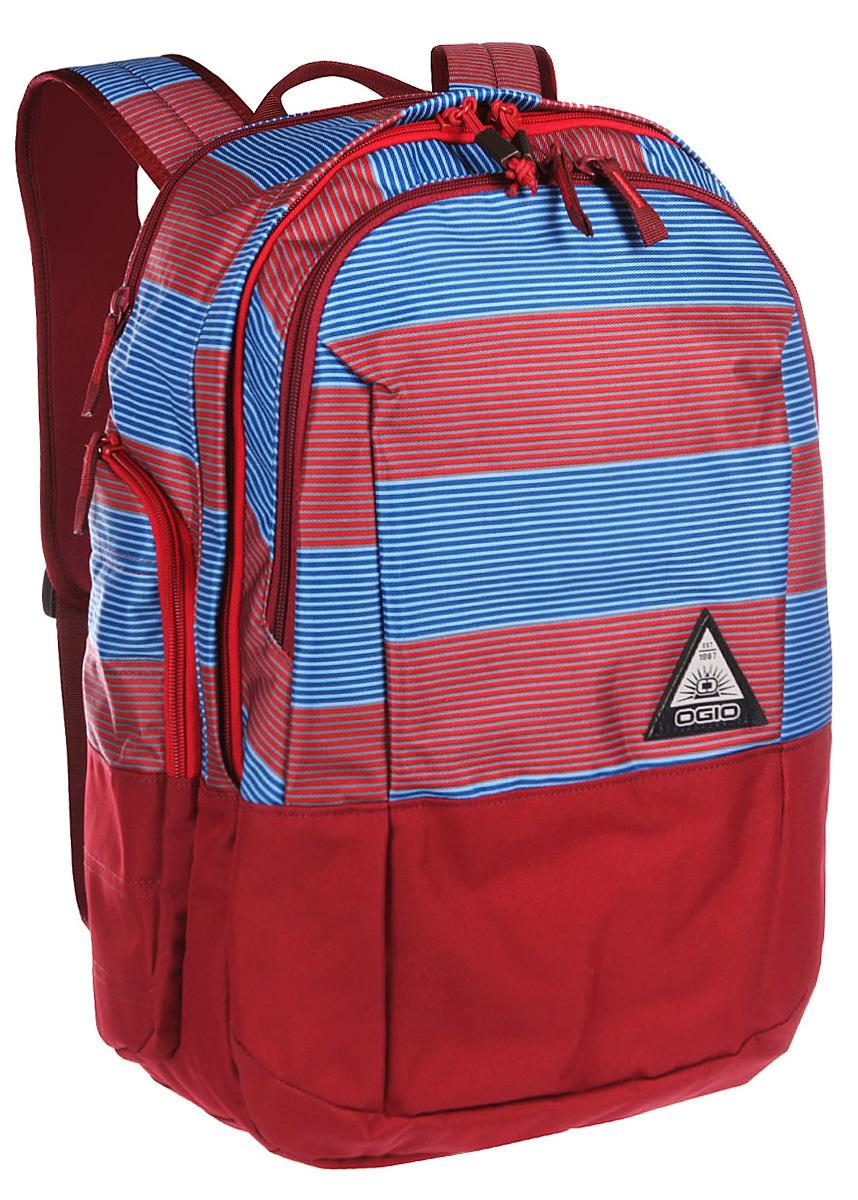 Рюкзак городской OGIO Clark Pack, цвет: красный, синий, 30 л рюкзак городской ogio active c7 sport pack a s цвет черный салатовый 031652226821