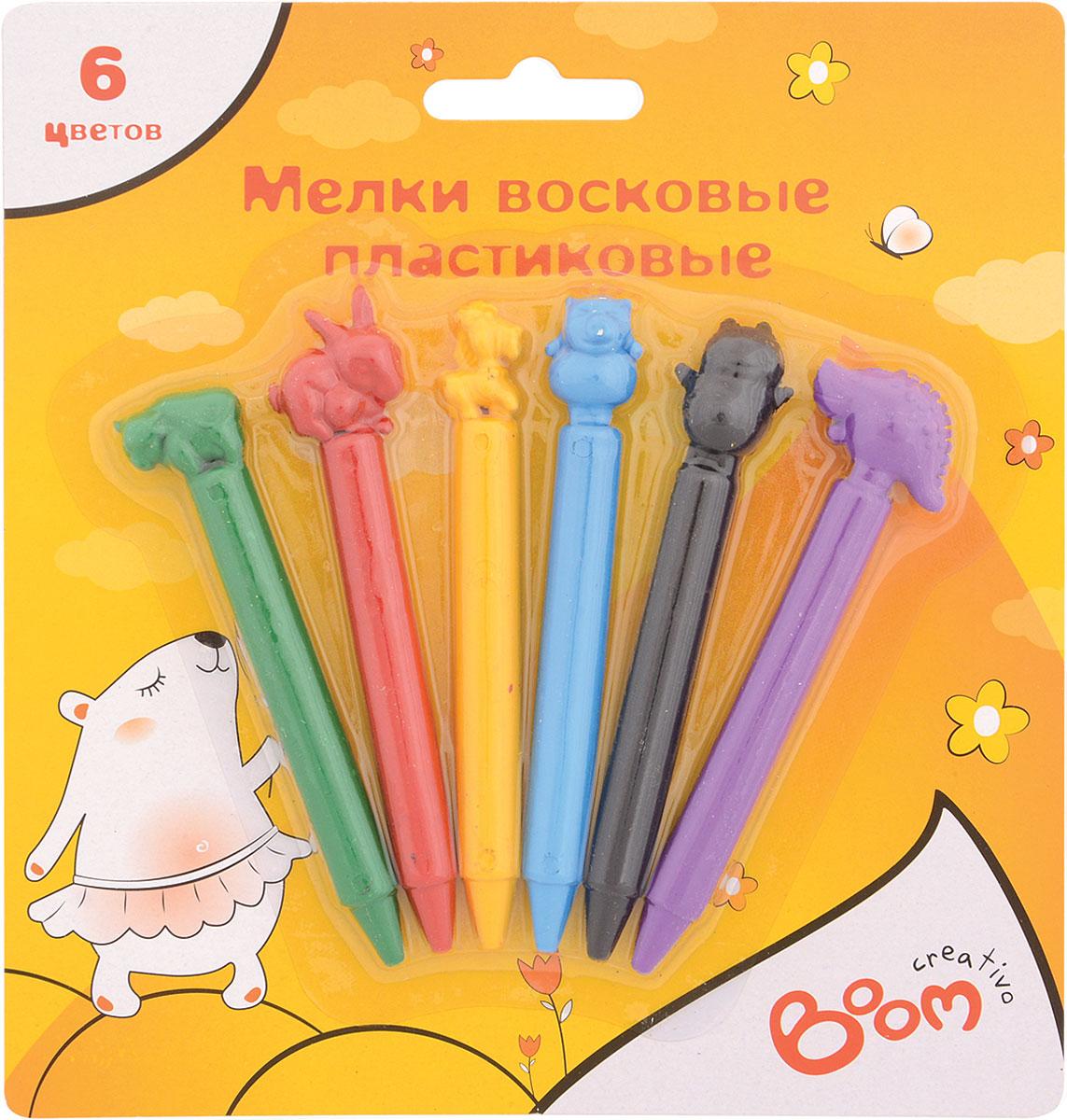 Boom Набор восковых мелков Creativo 6 цветов0108-3006Набор восковых мелков Boom Creativo, предназначенный для рисования, поможет ребенку развить творческие способности, воображение и мелкую моторику рук. У мелков отличные безопасные свойства - не крошатся и не пачкают руки, изготовлены на пластиковой основе, имеют яркие цвета. В наборе 6 восковых мелков - зеленый, красный, желтый, синий, черный, фиолетовый.Яркие мелки Boom Creativo совершенно безопасны для здоровья.