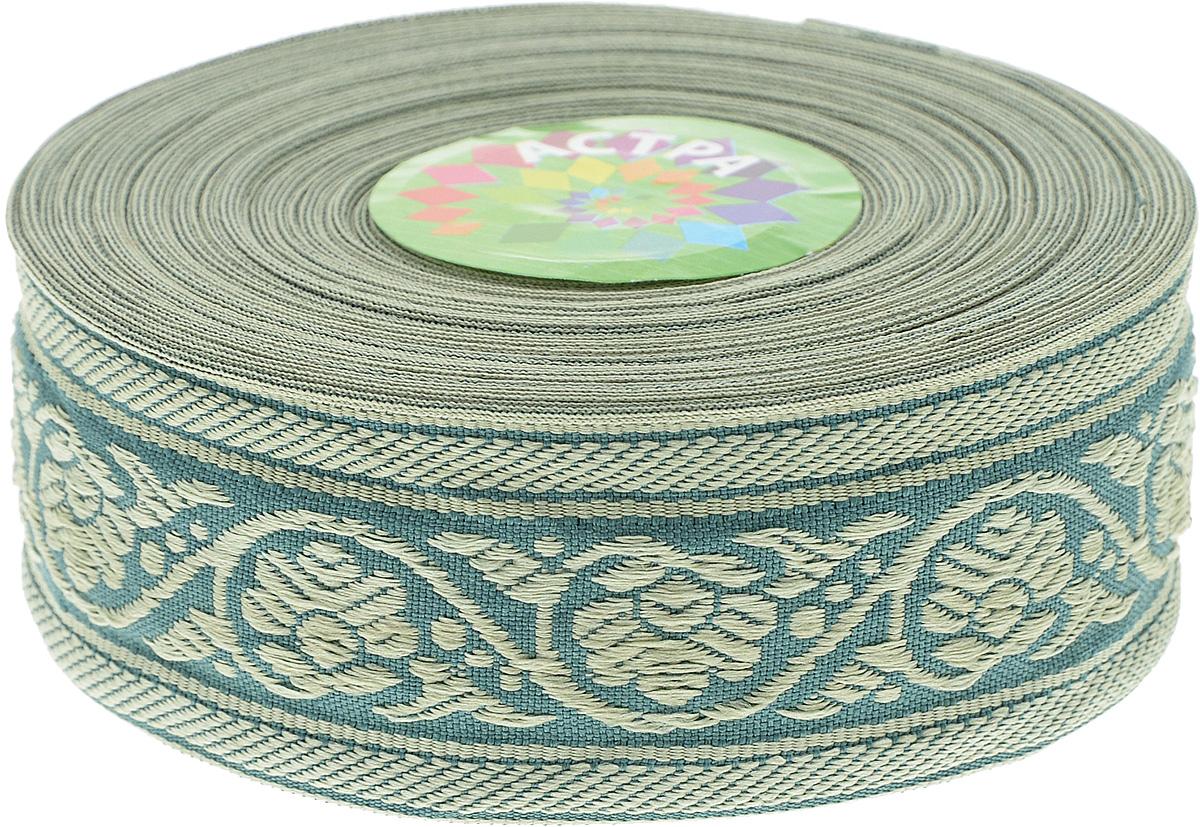 Тесьма декоративная Астра, цвет: зеленый (172/170L), ширина 3,5 см, длина 16,4 м. 77033487703348_172/170LДекоративная тесьма Астра выполнена из текстиля и оформлена оригинальным орнаментом. Такая тесьма идеально подойдет для оформления различных творческих работ таких, как скрапбукинг, аппликация, декор коробок и открыток и многое другое. Тесьма наивысшего качества и практична в использовании. Она станет незаменимым элементом в создании рукотворного шедевра. Ширина: 3,5 см.Длина: 16,4 м.