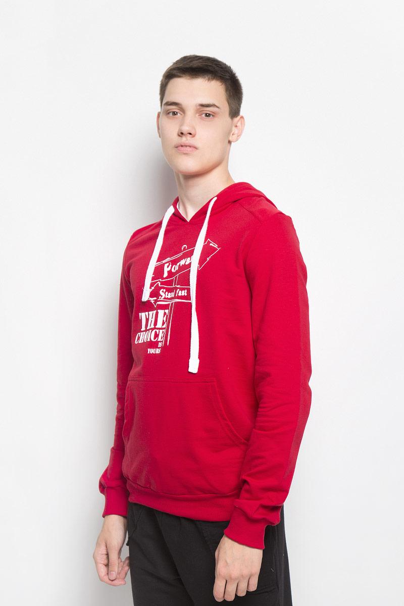 Купить Толстовка мужская RAV, цвет: красный. RAV01-005. Размер XXL (54)