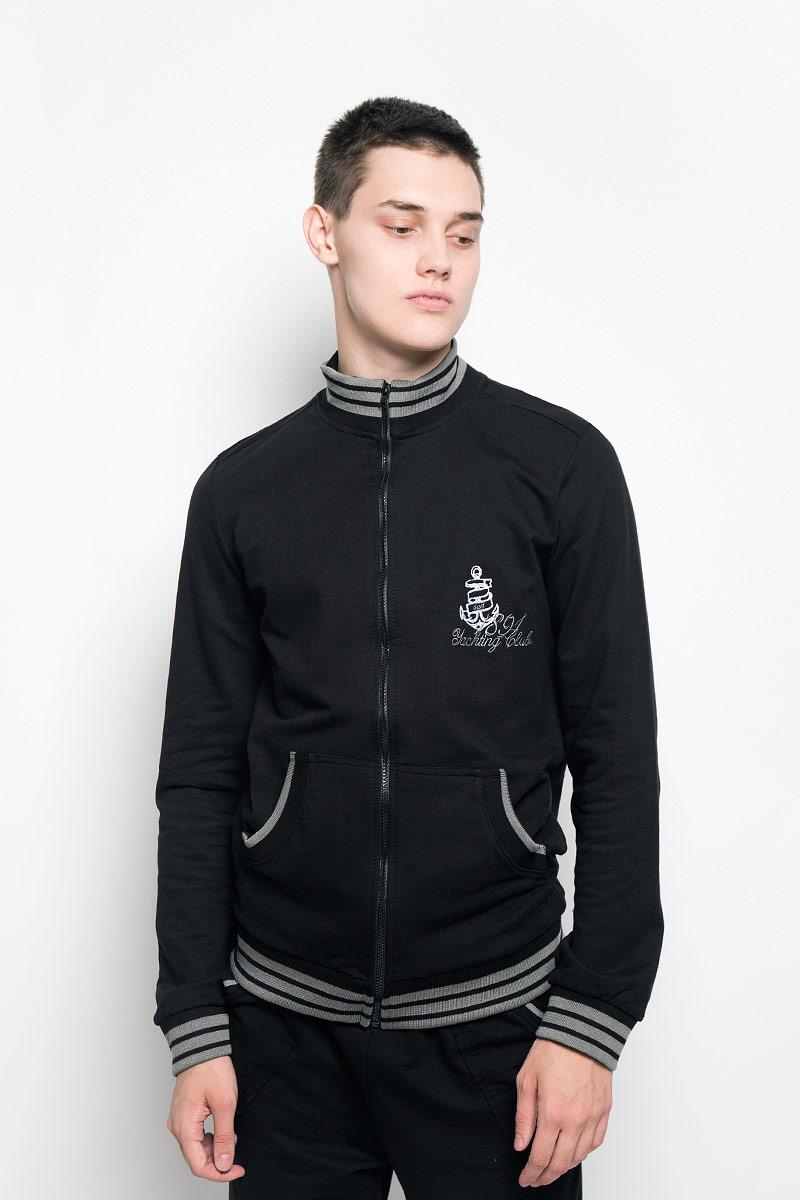 Толстовка мужская RAV, цвет: черный. RAV01-008. Размер S (46) футболка поло мужская rav rav01 021