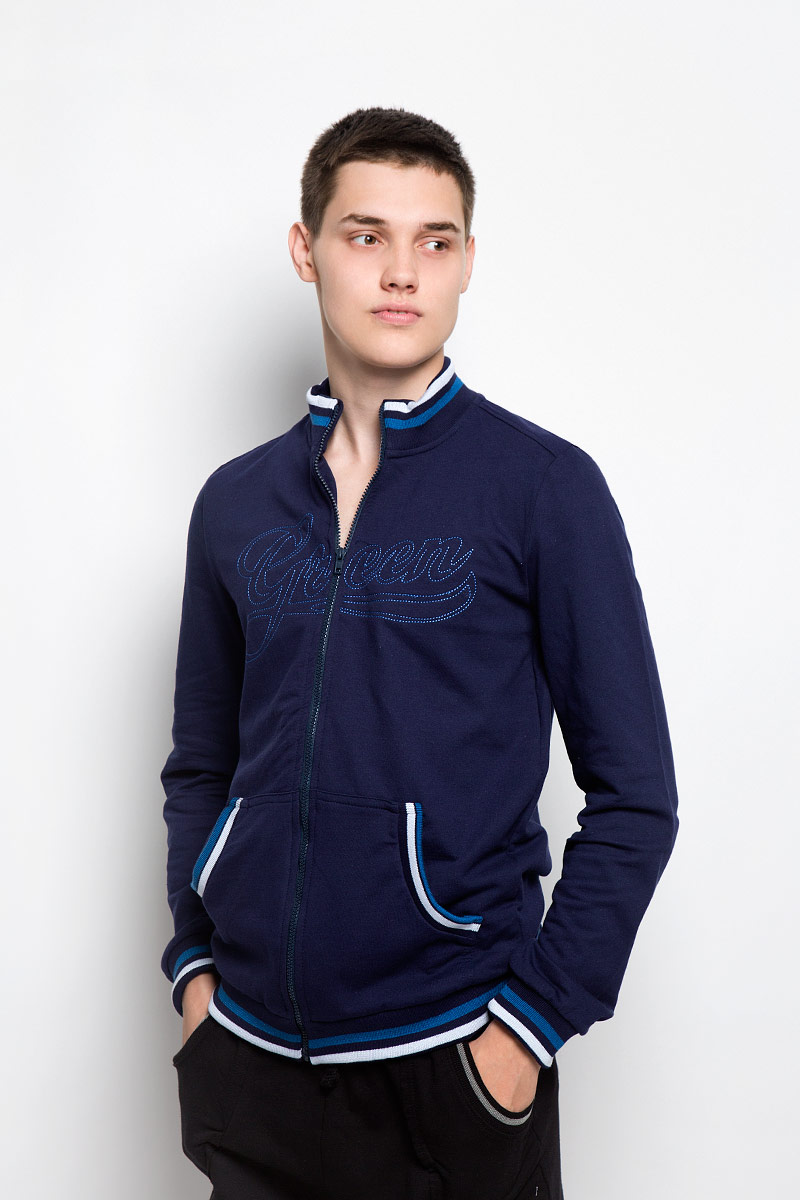 Толстовка мужская RAV, цвет: темно-синий. RAV01-010. Размер S (46) футболка поло мужская rav rav01 021