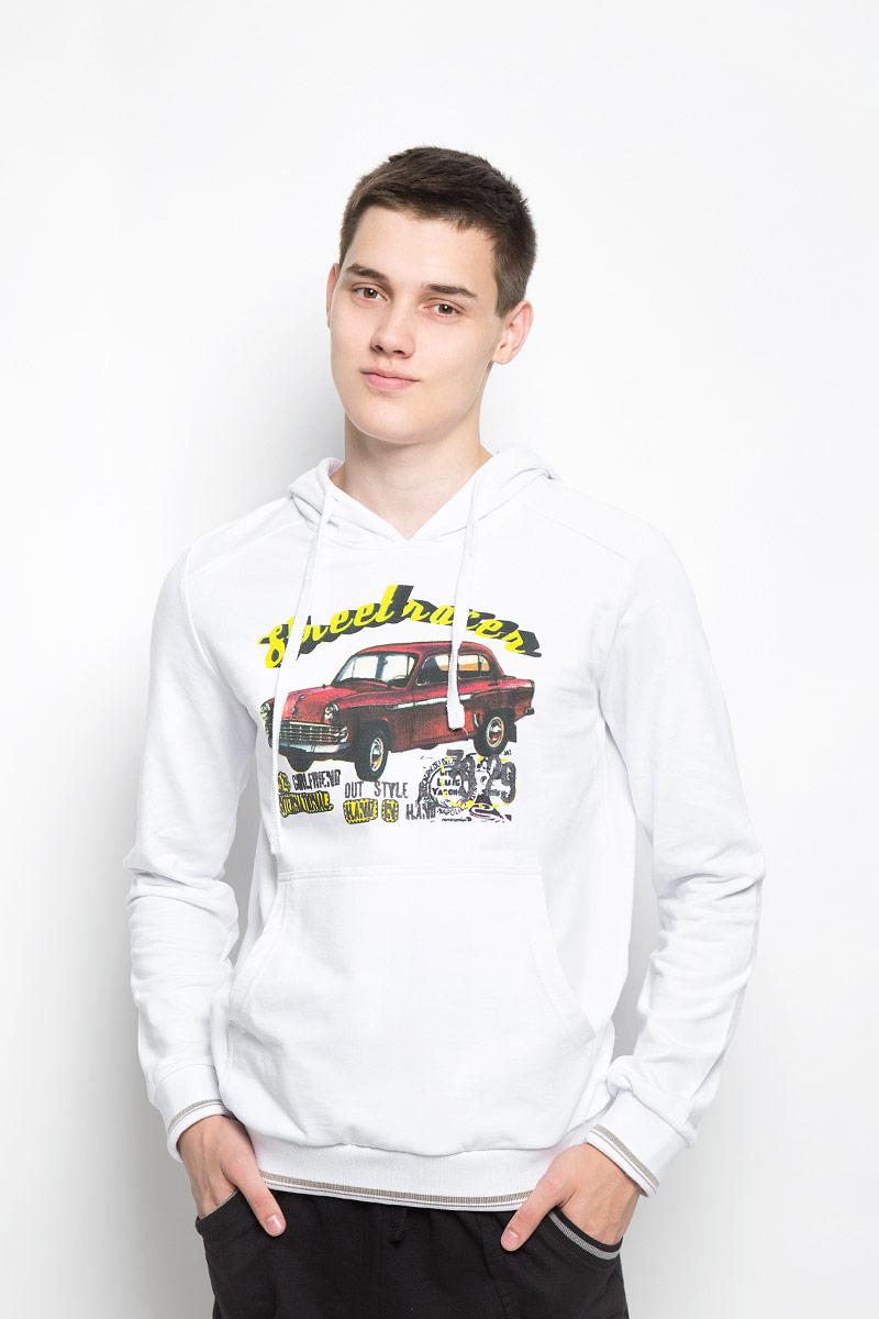 Толстовка мужская RAV, цвет: белый. RAV01-006. Размер XXL (54) футболка поло мужская rav rav01 021