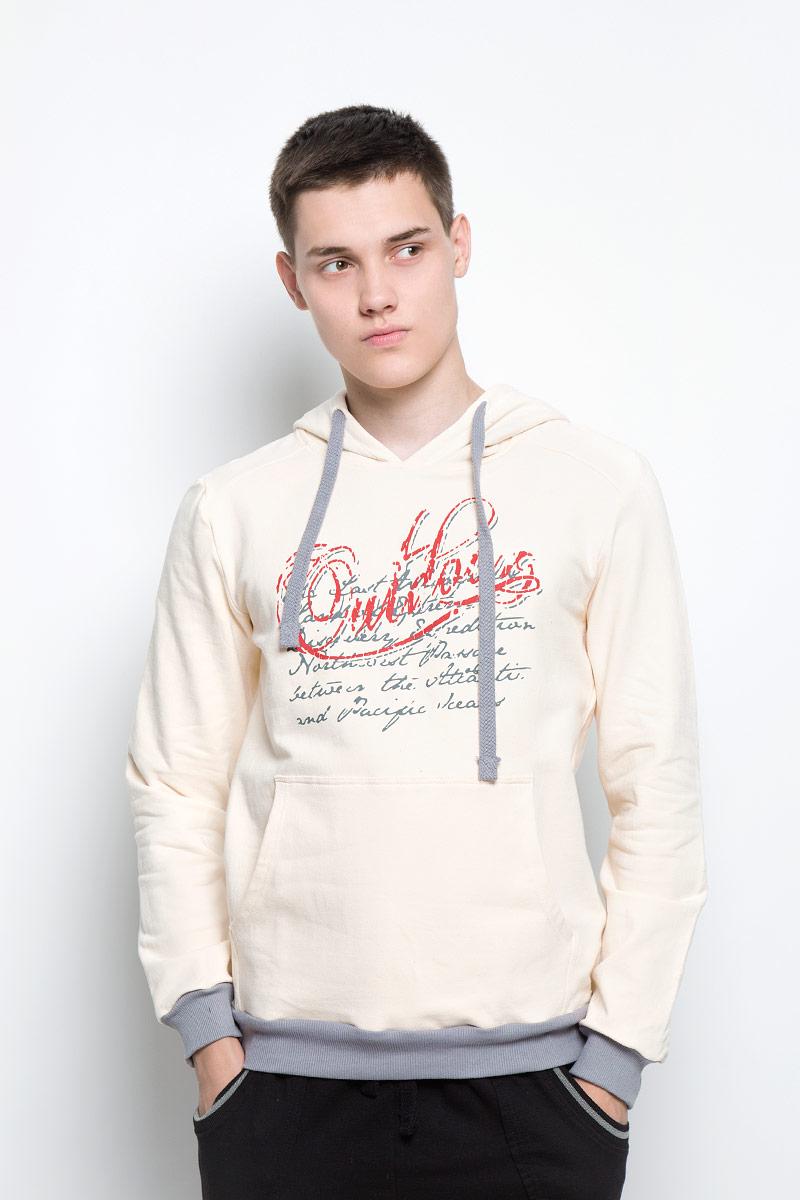 Толстовка мужская RAV, цвет: молочный, серый. RAV01-002. Размер S (46) футболка поло мужская rav rav01 021