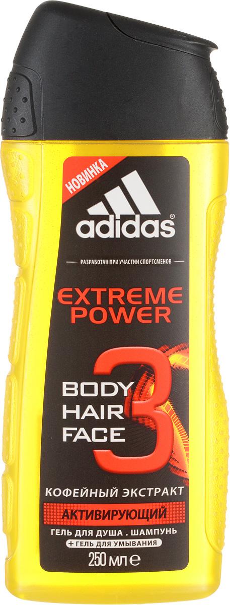 Adidas Гель для душа, для тела и волос Extreme Power, кофейный экстракт, 250 мл340010732081Гель для душа, для тела и волос от Adidas с ароматом Extreme Power. Разработан на основе уникального комплекса сбалансированных эфирных масел с натуральными ингредиентами. Обогащенная витаминами и минералами формула, восстанавливающая и расслабляющая с кофейным экстрактом. Обладает антисептическим и освежающим действием. Характеристики:Объем: 250 мл. Производитель: Франция. Товар сертифицирован.
