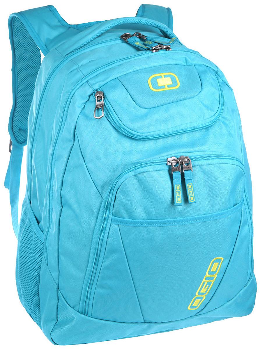 Рюкзак городской OGIO Tributante Pack, цвет: голубой, 40 л111091-436Женский рюкзак OGIO Tributante Pack сочетает в себе как стильный внешний вид, так и высокую технологичность. В этом рюкзаке имеются специализированные отсеки для ноутбука и планшета, которые позволят вам не переживать за сохранность техники. Эргономичная мягкая спинка с сетчатыми панелями обеспечивает отличную продуваемость, которая особенно необходима в теплое время года.OGIO - высокотехнологичный продукт от американского производителя. Вместимые сумки для путешествий, работы и отдыха, специальная коллекция городских сумок для женщин, жесткие боксы под мелкий инвентарь и многое другое.Объем рюкзака: 40 л.