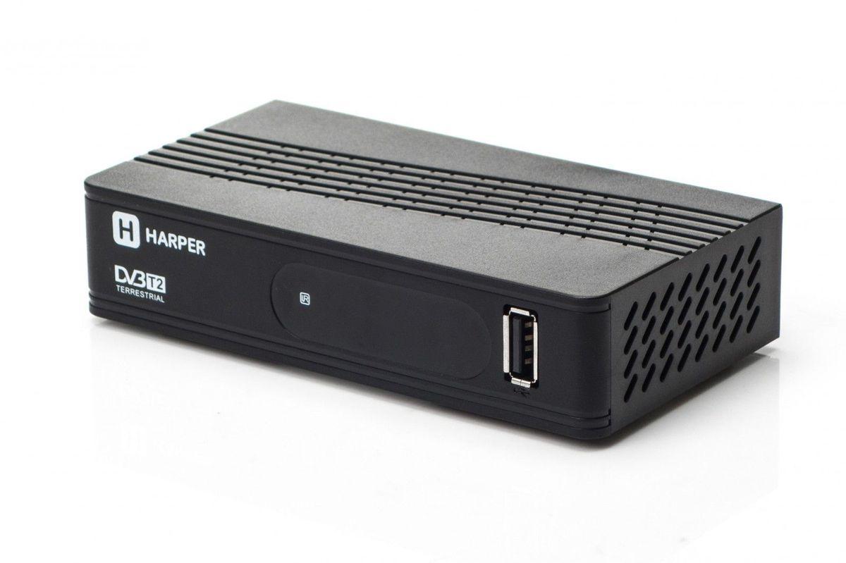 Harper HDT2-1202, Black телевизионный ресивер DVB-T2 - ТВ-ресиверы