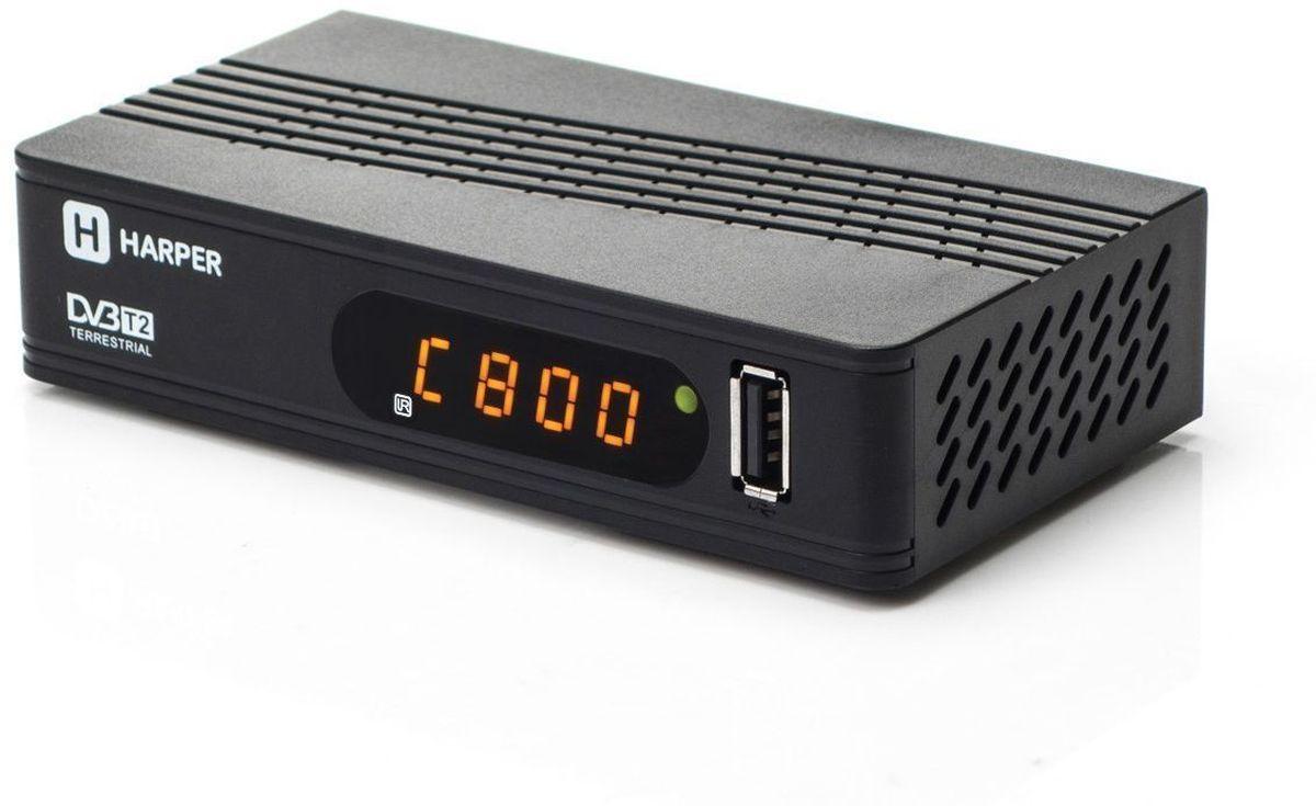 Harper HDT2-1514, Black телевизионный ресивер DVB-T2 цифровой hd ресивер gi phoenix купить в спб