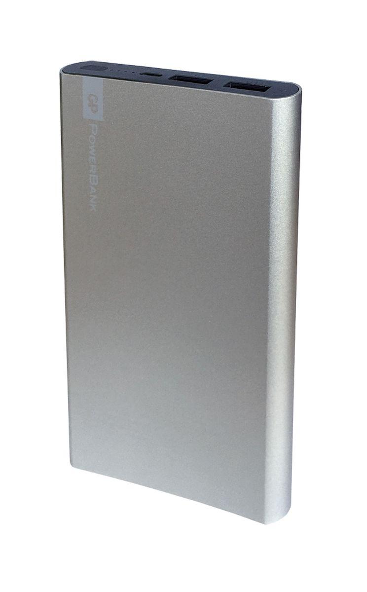 GP GPFP10MSE-2CRB1, Silver внешний аккумулятор (10000 мАч) 20000mah power bank usb блок батарей 2 0 порты usb литий полимерный аккумулятор внешний аккумулятор для смартфонов порошка