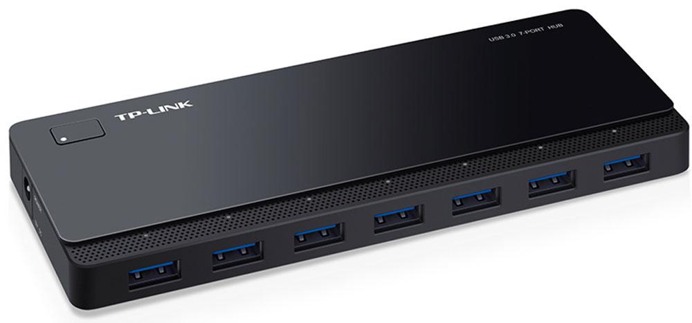 TP-Link UH700 7-портовый USB-концентраторUH7007-портовый концентратор TP-Link UH700 поддерживает все USB-устройства, включая USB-накопители, мыши, принтеры ипрочие устройства, которые вы хотите использовать одновременно. Порты USB 3.0 обеспечат скорость передачиданных до 5 Гбит/с, что в 10 раз быстрее, чем по USB 2.0.UH700 добавляет 7 дополнительных портов USB к вашему компьютеру, устраняя необходимость переключенияустройств. Множественные функции защиты уберегут ваши устройства от возможных повреждений при передачеданных.