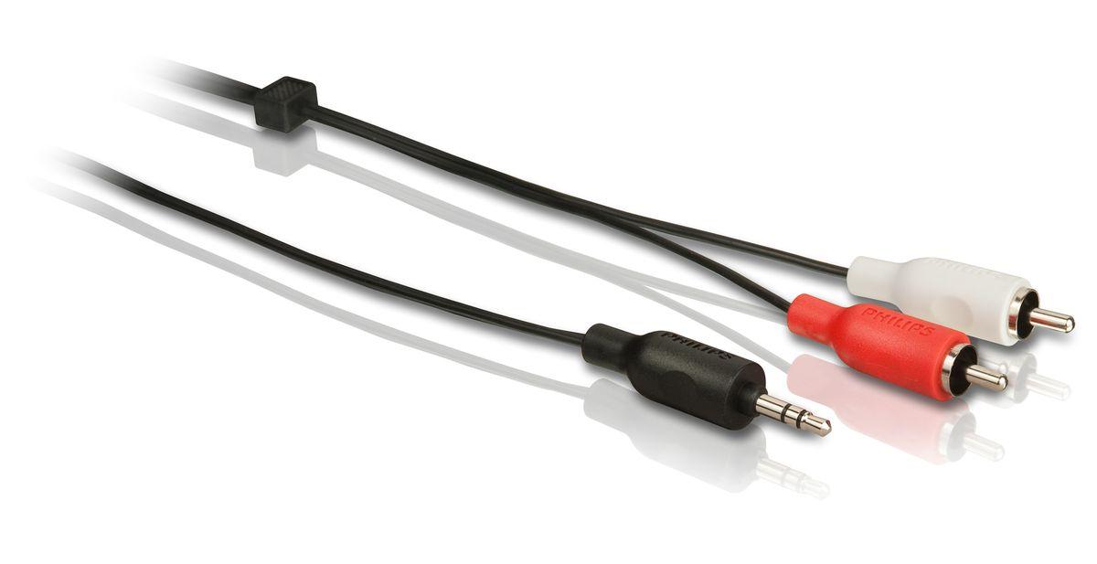 Philips SWA2520W/10 стерео аудиокабель, 3 м