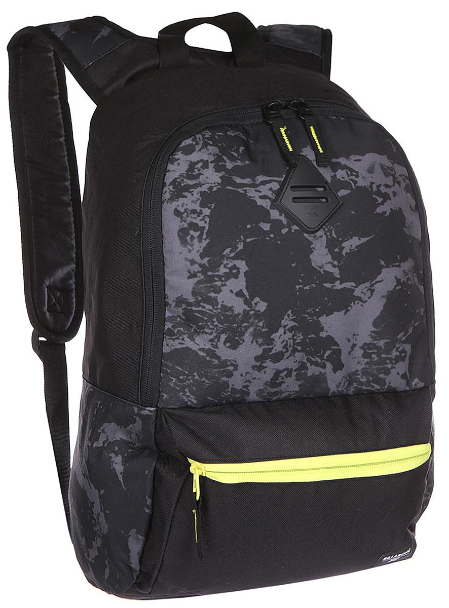 Рюкзак городской Billabong Atom, цвет: черный, 20 лU5BP03Практичный рюкзак, простой, не громоздкий, но при этом достаточно вместительный. Внутренние карманы для ноутбука и документов позволят удобно разложить важнейшие вещи, не требуя большого количества отсеков рюкзака. Вместительное основное отделение закрывается на молнию. Внешний карман быстрого доступа на молнии. Отличный вариант для всех случаев жизни, будь то работа, учеба, катание, прогулка по городу или поездка.